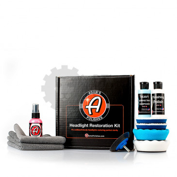 Headlight Restoration Kit - Набор для плировки фар, HEADLIGHTKIT, Adam's Polishes